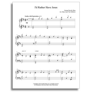 I'd Rather Have Jesus Piano Sheet Music