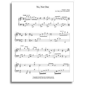 No, Not One Piano Sheet Music